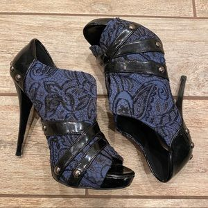 Guess Blue and Black Booties